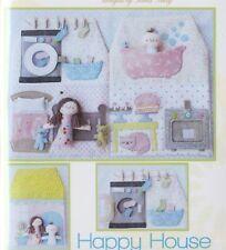 PATTERN - Happy House - fun dolls & playhouse PATTERN - Two Brown Birds