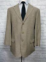 VALENTINO Men's Black & Cream Italian Made Silk & Wool Blazer Sport Coat 44R