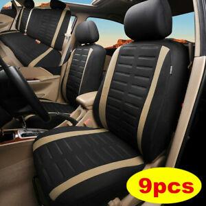 9pcs Car Accessories Auto Seat Covers Protectors Universal Washable Full Set
