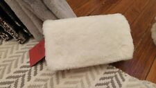 Envelope clutch Faux Fur White Mossimo hand purse