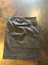 Brunello Cucinelli Gray Wool Pleated Pencil skirt 40 S