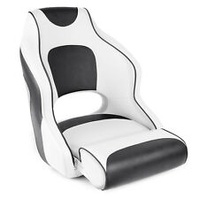 Leader Accessories Two Tone Captain's Bucket Seat White/Charcoal,Charcoal Piping