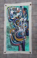 """Simeon Gonzales  """" Musico """"  , Peinture Originale sur Toile de Lin"""