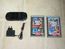 Sony PSP Street Schwarz mit  Zubehörpaket + GTA Doppelpack