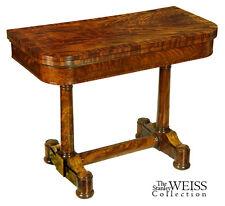 Swc-Classical Mahogany Card Table, Ny, Phyfe, 1820-30