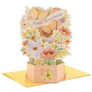 Hallmark Anniversary Card ~ Paper Wonder MUSICAL Light Up ~ Pastel Butterflies