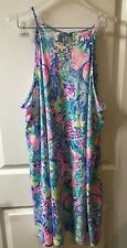 Lilly Pulitzer Women's XL Margot Dress Multi Mermaids Cove EUC