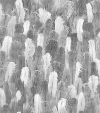 Vliestapete grau weiß Feder Optik Struktur Rasch African Queen 2 473308 (3,05€/1