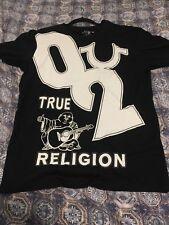True Religion Jeans Men's T-Shirt Crew Graphic Logo Black Buddha Tee Shirt Sz XL