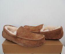 UGG Australia Men's ASCOT Slippers Shoes 10US CHESTNUT Brn Suede NWB $110 MSRP