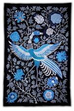 WONDERFUL UZBEK SILK EMBROIDERY SUZANI  MYTHIC BIRD M506