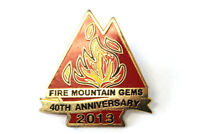 Fire Mountain Gems Twin Peaks 40th Anniversary 2013 Metal/Enamel Collectible Pin
