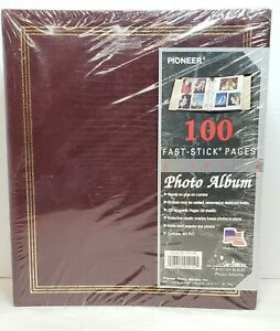 Vintage Pioneer Photo Album With 100 Magnetic Pages (50 sheets) Burgundy