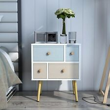 Lifewit Sofa End Side Bedside Table Nightstand Bedroom Storage Table 4 Drawers