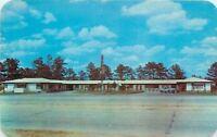 Columbus Georgia~Candlelight Motel~Near Fort Benning~1950s Car~Roadside Postcard