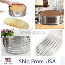 Adjustable Round Mousse Cake Ring Mold Layer Slicer Cutter Stainless Steel DIY