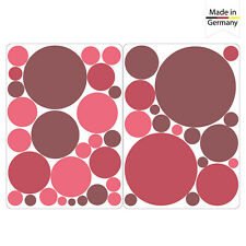 Pegatina Pared 40 Círculos Colores Pastel Dekokreise Habitación Colorido Puntos