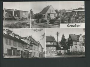 GREUSSEN / Sondersh. << 5 Ans. u.a. Neubaugebiet Ried, Markt m. Spark.>> s/w AK