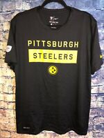 Pittsburgh Steelers T-Shirt Nike Dri Fit Adult Large Vintage Rare Only One On🔥