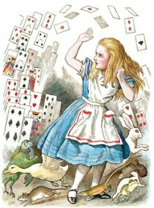 Rice Paper for Decoupage Scrapbook and Craft Alice in Wonderland 232