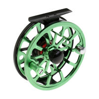 Aluminum Fly Fishing Reel 5/6WF Left/Right Hand CNC Machined Fly Reels Green