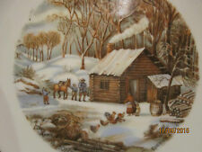 """Vintage Currier & Ives """"A Home In The Wilderness"""" Decorative 7"""" Plate, Japan"""
