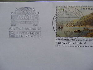 GERMANY, prestamped cover 2007, slogan canc. Leipziger Messe Auto Mobil Int. car