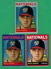 BRYCE HARPER LOT OF (3) 2013 TOPPS HERITAGE PARALLEL PURPLE REFRACTOR /564 RED