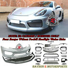 GT4-Style Front Bumper w/ DRL w/o HL Washer Fit 13-16 Porsche 981 Boxster Cayman