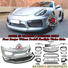 GT4-Style Front Bumper w/ DRL w/o Washer Fit 13-16 Porsche 981 Boxster Cayman