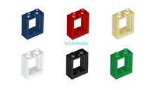 Lego Window 1 x 2 x 2 Flat Front Parts Pieces Lot ALL COLORS