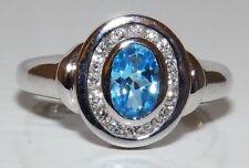 Topaz Wedding White Gold Fine Rings