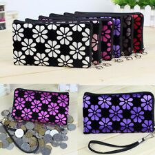 New Women Floral Flower Wallets Card Zip Coin Case Pouch Small Purse Key Bag US