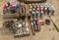 Huge Glitter And Bead Lot-  Martha Stewart, Sticklers, Pink Paisley- Used