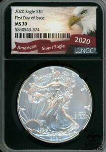 2020 UNITED STATES AMERICAN SILVER EAGLE NGC MS70 1ST DAY OF ISSUE! EAGLE LABEL
