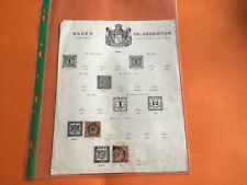 Baden Germany  Stamps 54104