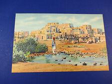 Pueblo De Taos, New Mexico Vintage Colorful Postcard Unused Pc14