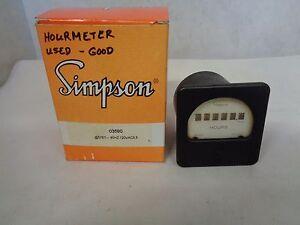 SIMPSON 03590 PANEL HOURS METER 57ET-120V