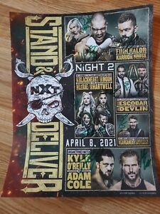 WWE NXT Takeover Stand and Deliver poster AUTOGRAPHED by 12 Superstars ⭐