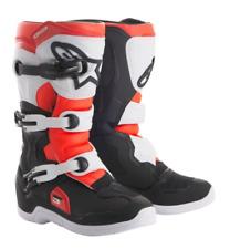 Alpinestars Tech 3s Kids Motocross Boots - Black/Flo Red, US1/UK13