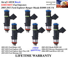 Genuine Set of 6 Bosch Fuel Injectors OEM For 2005-2010 Ford Mustang 4.0L