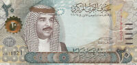 Bahrain - 20 Dinar Banknote - 2016 Series - Very Good Condition - Charity Sale