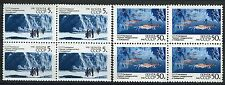 6095a - Russia 1990 - Austalia Antarctic - Mnh(*) Set - Block of 4