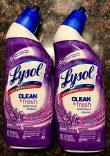 U GET **2**  Lysol  Cling Gel CLEAN & FRESH Toilet Bowl LAVENDER Scent 2 x 8 oz.