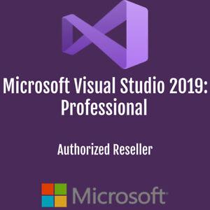 Microsoft Visual Studio 2019 Professional   Authorized Reseller