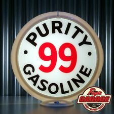 """Purity 99 Gasoline - 13.5"""" Gas Globe Lenses -  Made by Pogo's Garage"""