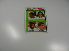 B Bean/W Francis/R Lawrence/G Brezina 1979 Topps '78 Falcons Team Ldrs card #263