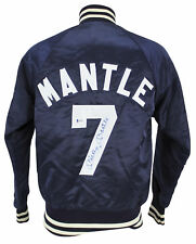 Yankees Mickey Mantle Authentic Signed Blue Starter Jacket BAS #A85256