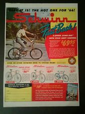 1966 Schwinn Sting~Ray Fast Back Bicycles Disneyland Disney Memorabilia Bike AD