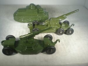 Tootsietoy TANK & 2 CANNONS 1950'S TRULY OUTSTANDING